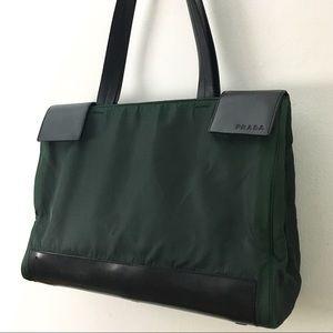 PRADA Nylon & Leather Tote